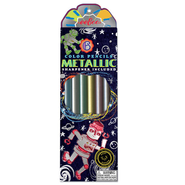 Robot Metallic Colored Pencils - JKA Toys