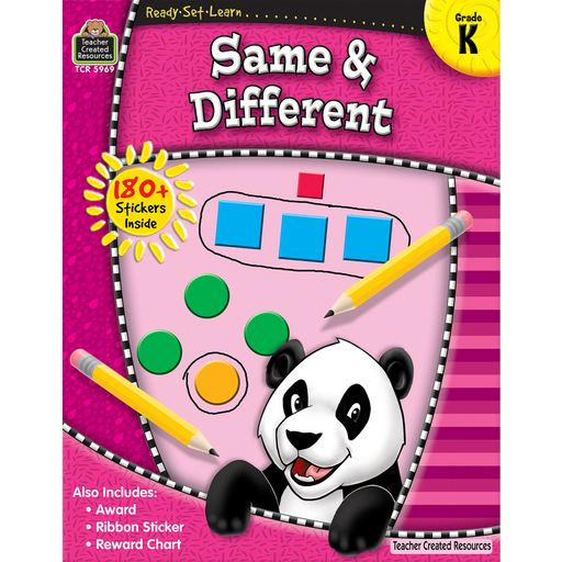 Ready Set Learn Workbook: Same & Different - Kindergarten - JKA Toys