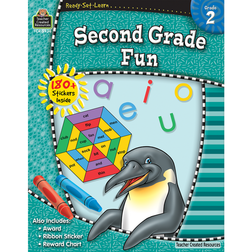 Ready Set Learn Workbook: Second Grade Fun - JKA Toys