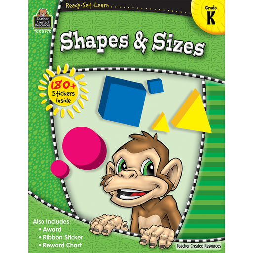 Ready Set Learn Workbook: Shapes & Sizes - Kindergarten - JKA Toys