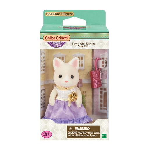 Calico Critters Town Girl Silk Cat - JKA Toys