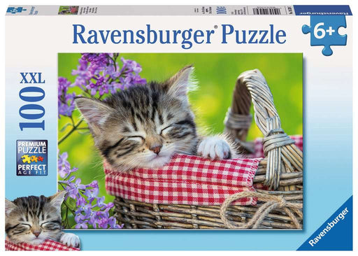 100 Piece Sleeping Kitten Puzzle - JKA Toys
