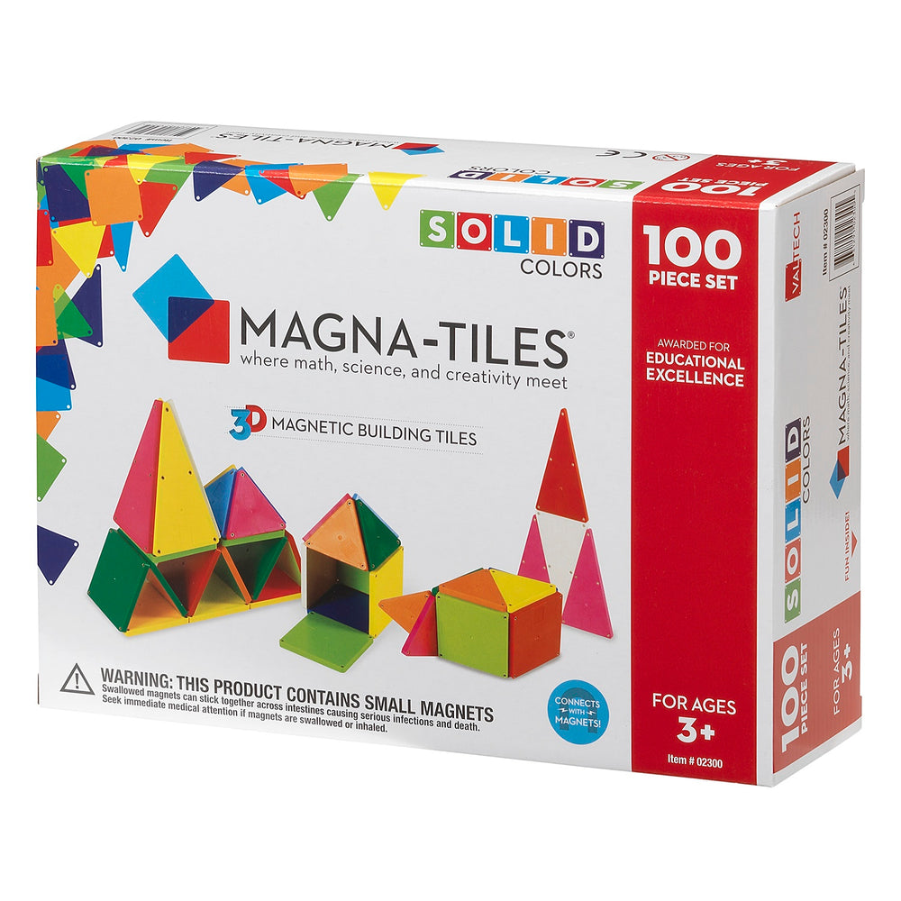 Magna-Tiles 100 Piece Solid Colors - JKA Toys