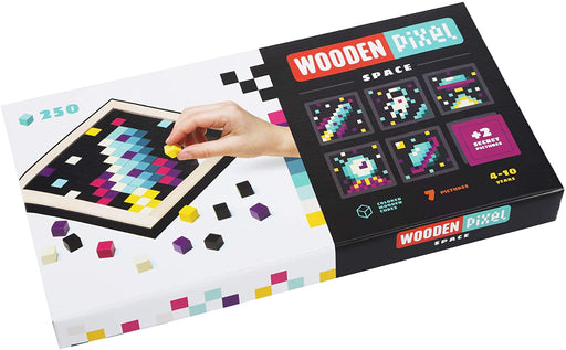 Wooden Pixel Mosaic Art Set - Space - JKA Toys