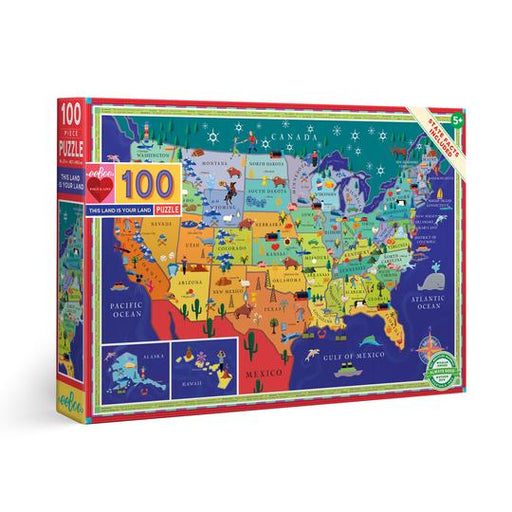 100 Piece This Land is Your Land Puzzle - JKA Toys