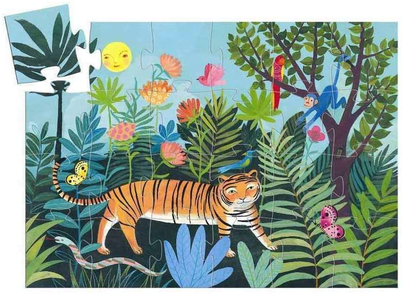 24 Piece Tiger's Walk Silhouette Puzzle - JKA Toys