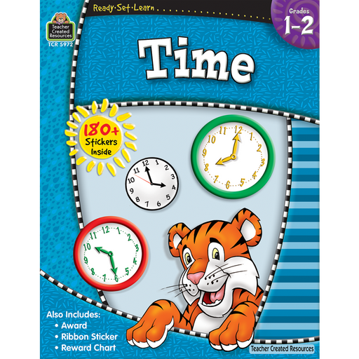 Ready Set Learn Workbook: Time - Grades 1 - 2 - JKA Toys