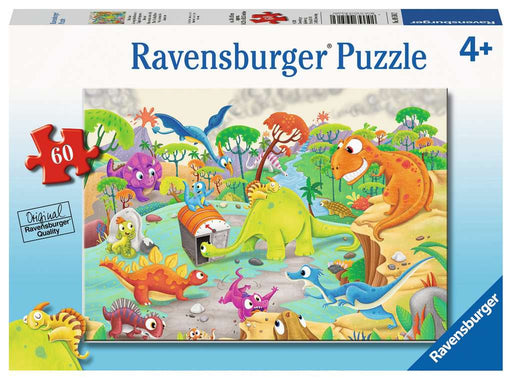 60 Piece Time Traveling Dinos Puzzle - JKA Toys