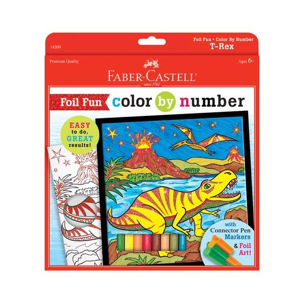 Foil Fun Color by Number T-Rex