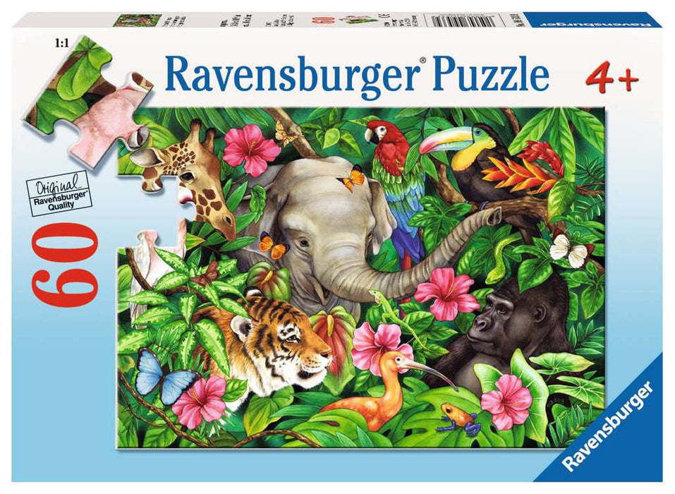 60 Piece Tropical Friends Puzzle - JKA Toys