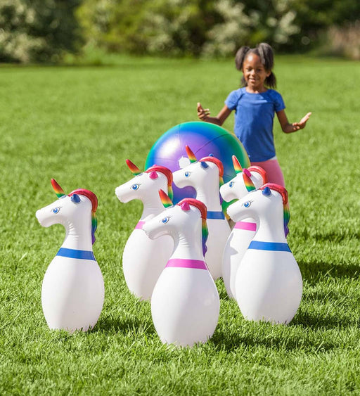 Giant Inflatable Unicorn Bowling - JKA Toys