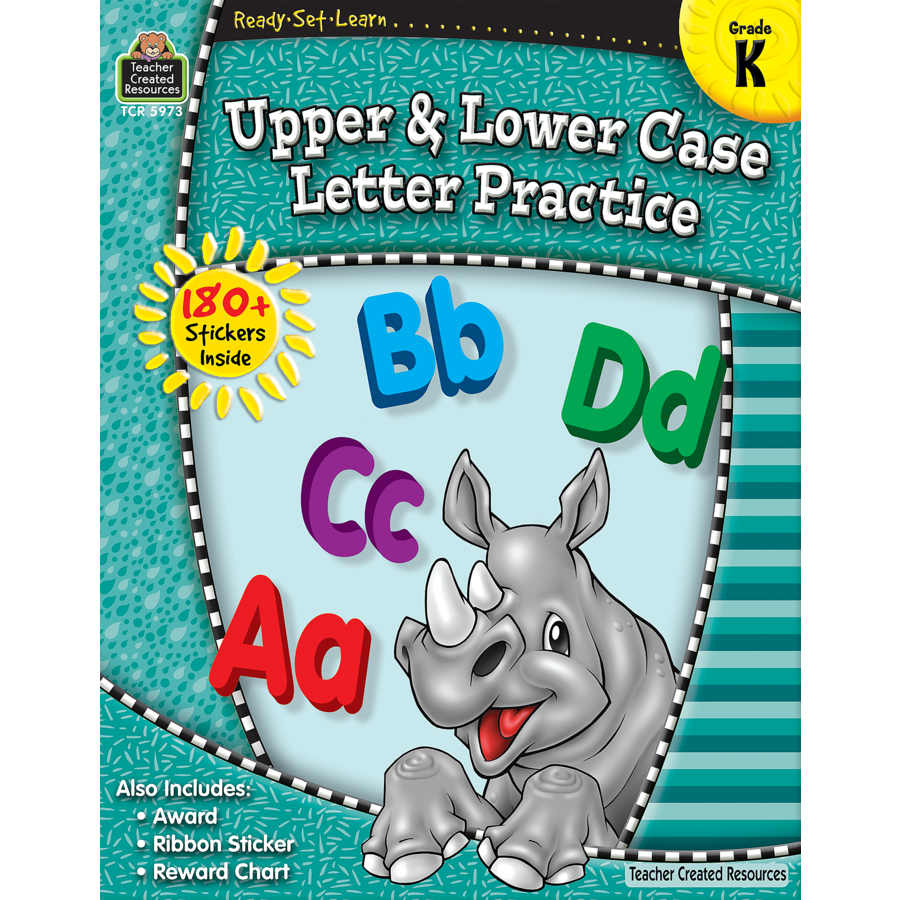 Ready Set Learn Workbook Upper & Lower Case Letter Practice - Grade K - JKA Toys