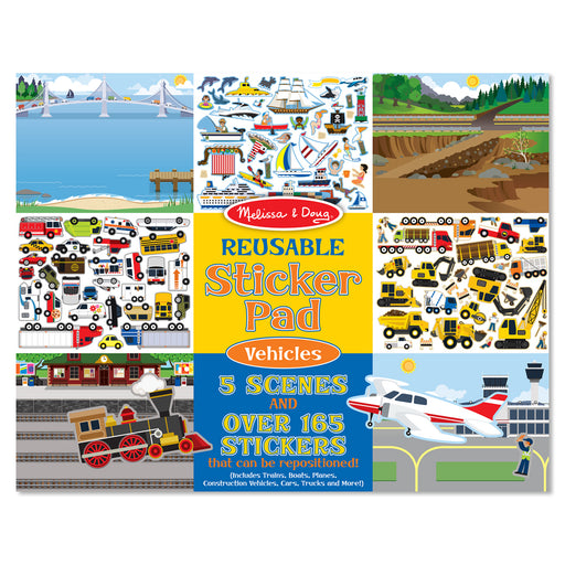Vehicles Reusable Sticker Pad - JKA Toys