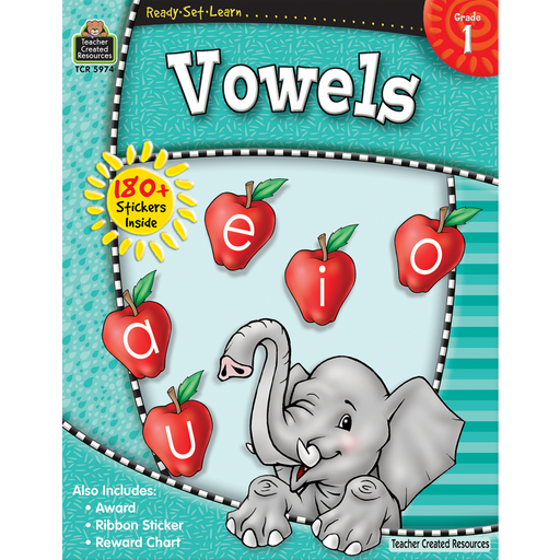 Ready Set Learn Workbook: Vowels - Grade 1 - JKA Toys