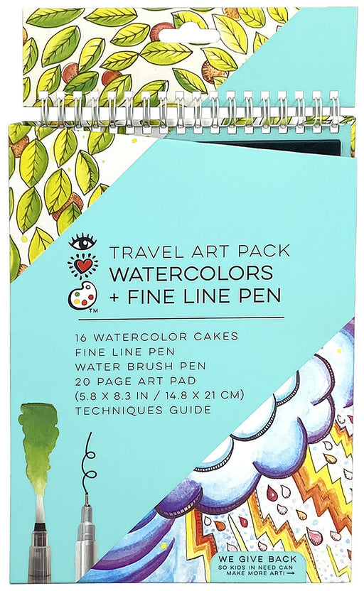 Watercolors & Fine Line Pen Travel Art Pack - JKA Toys