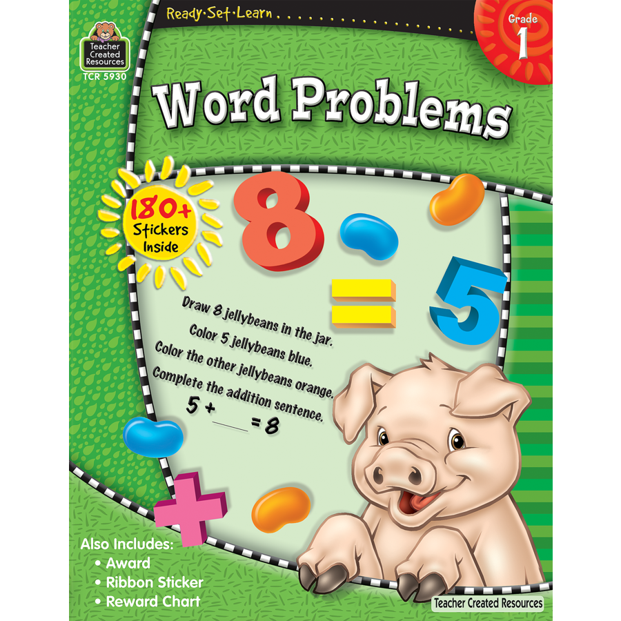 Ready Set Learn Workbook: Word Problems - Grade 1 - JKA Toys