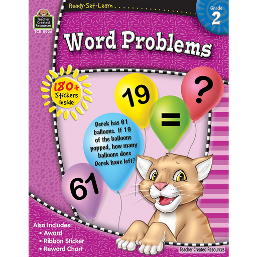 Ready Set Learn Workbook: Word Problems - Grade 2 - JKA Toys