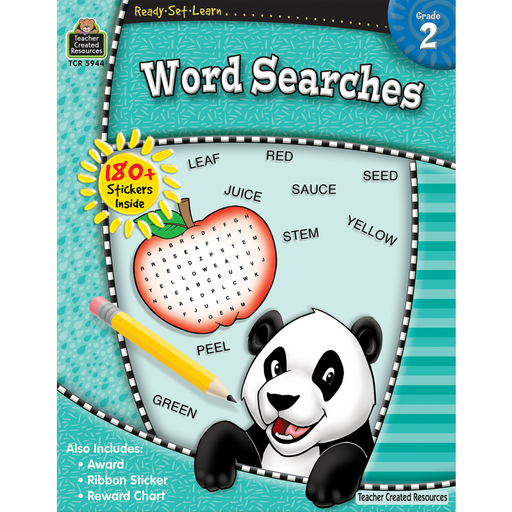 Ready Set Learn Workbook: Grade 2 - Word Searches - JKA Toys