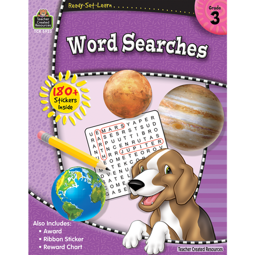 Ready Set Learn Workbook: Grade 3 - Word Searches - JKA Toys
