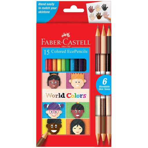 World Colors 15 Colored Ecopencils - JKA Toys