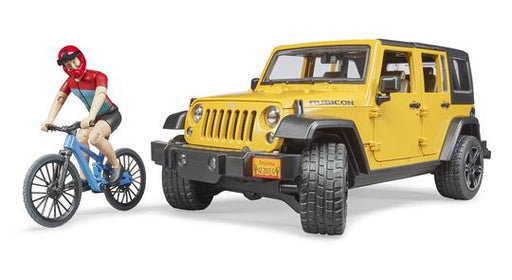 Bruder Jeep Wrangler Rubicon with Mountain Bike Figure - JKA Toys