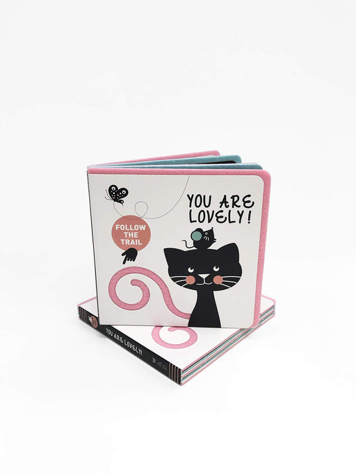 You Are Lovely! Follow The Trail Touch & Feel Board Book - JKA Toys
