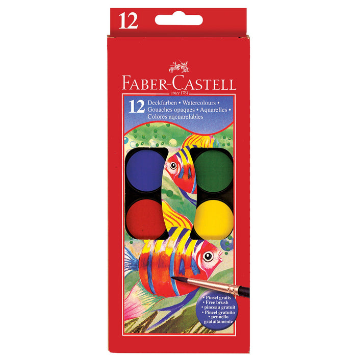 12 Color Watercolor Paint Set - JKA Toys