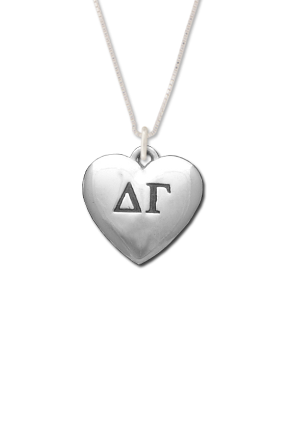 Heart Letters Necklace - Hannah's Closet - The Official Boutique for Delta Gamma
