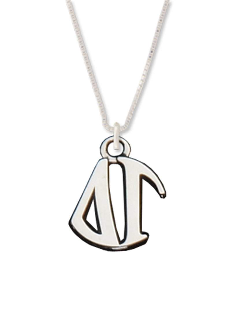 Letters Circle Drop Necklace - Hannah's Closet - The Official Boutique for Delta Gamma