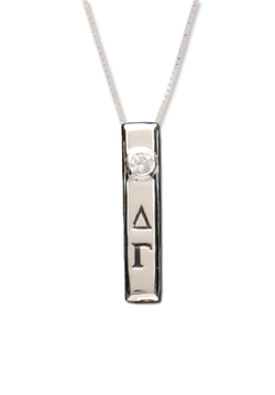 Vertical Bar Letters Necklace - Hannah's Closet - The Official Boutique for Delta Gamma