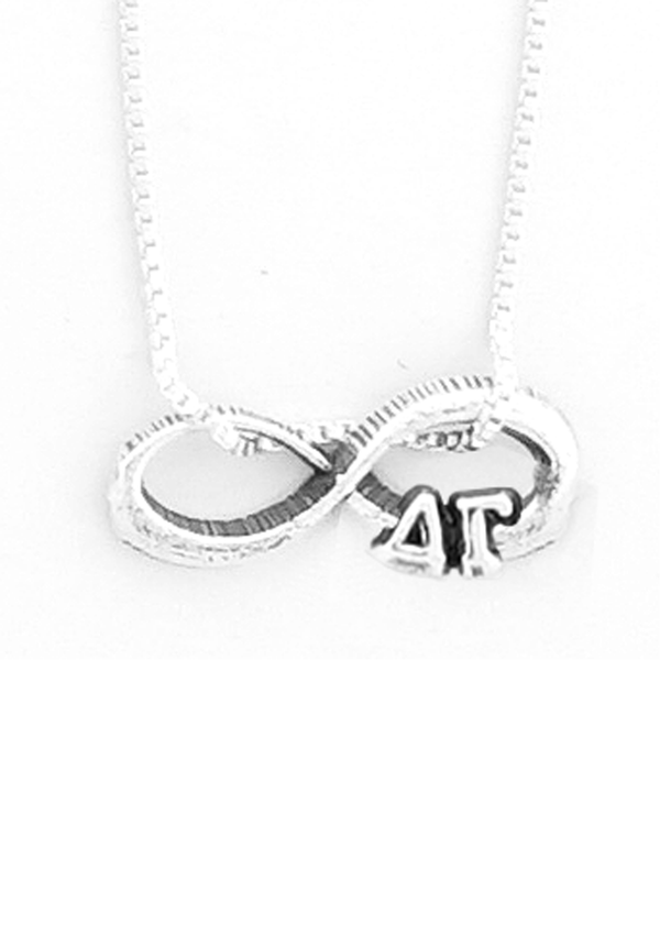Infinity Charm Necklace - Hannah's Closet - The Official Boutique for Delta Gamma