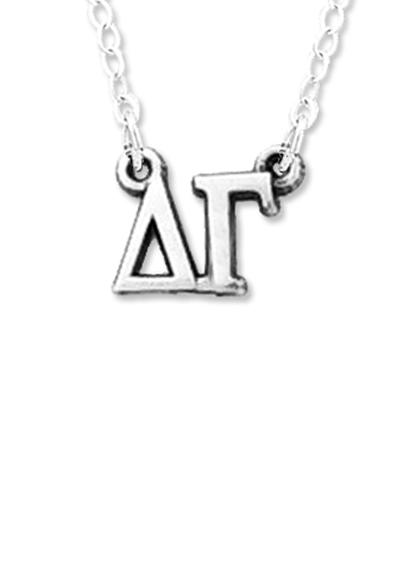 Horizontal Greek Letters Necklace - Hannah's Closet - The Official Boutique for Delta Gamma