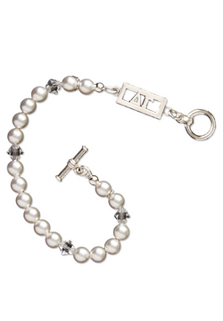 Cut Out Letters Pearl Bracelet - Hannah's Closet - The Official Boutique for Delta Gamma