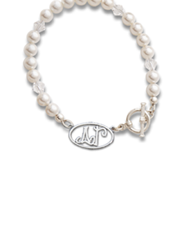 Whimsey Letters Pearl Bracelet - Hannah's Closet - The Official Boutique for Delta Gamma