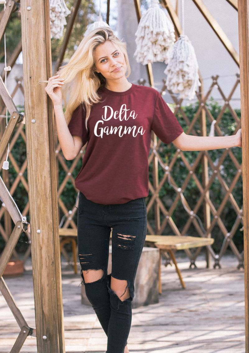 Cursive Tee - Hannah's Closet - The Official Boutique for Delta Gamma
