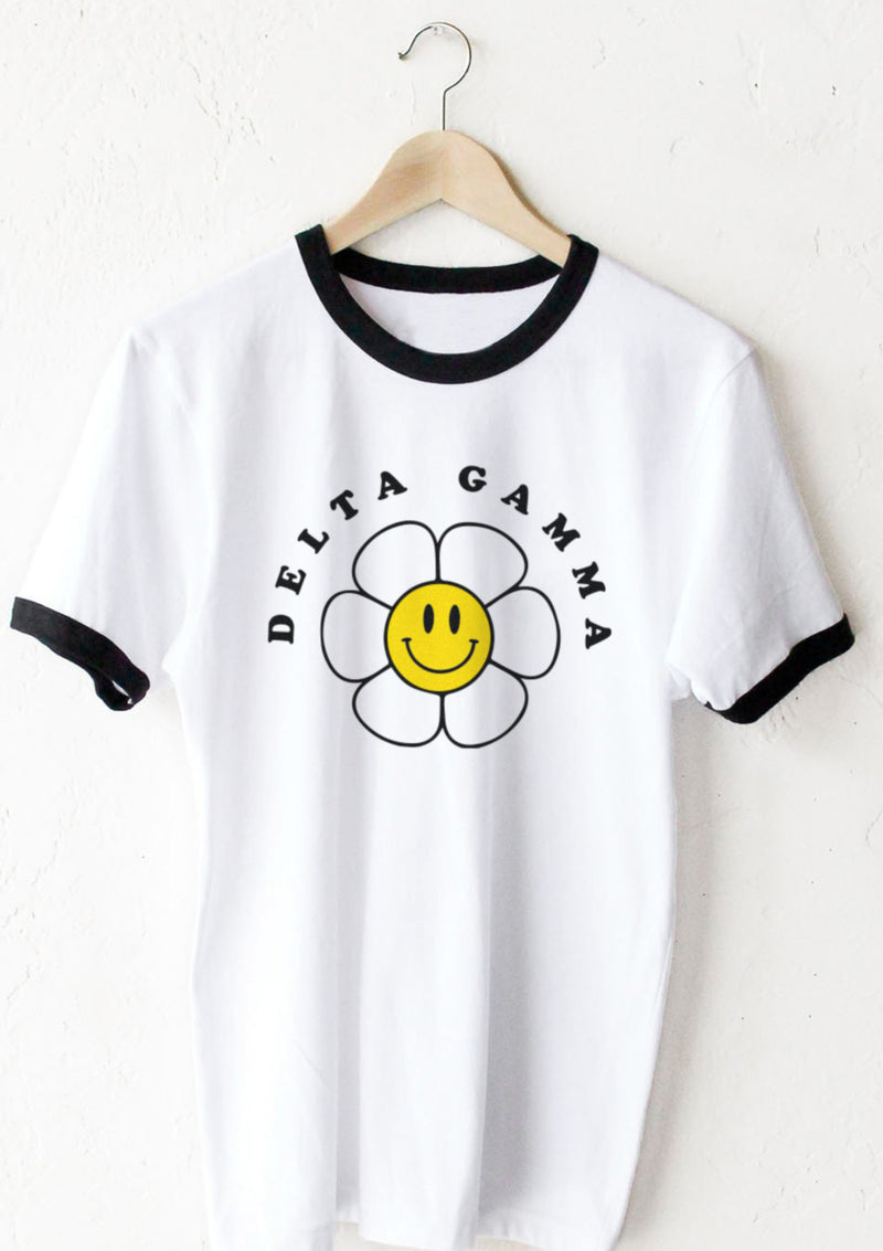 Smiley Flower Tee - Hannah's Closet - The Official Boutique for Delta Gamma