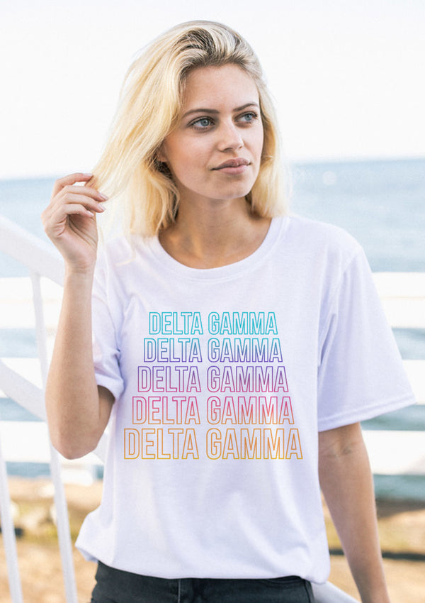 Stacked Tee - Hannah's Closet - The Official Boutique for Delta Gamma