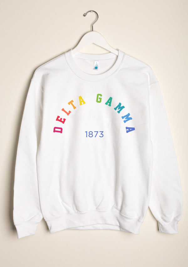 Rainbow Crewneck - Hannah's Closet - The Official Boutique for Delta Gamma