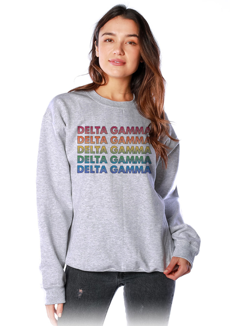 Technicolor Crewneck - Hannah's Closet - The Official Boutique for Delta Gamma