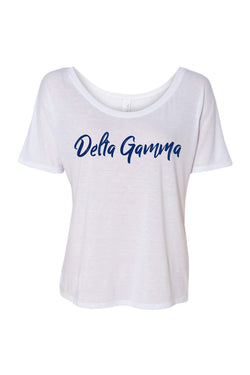 Flowy DG New Brand Tee - Hannah's Closet - The Official Boutique for Delta Gamma
