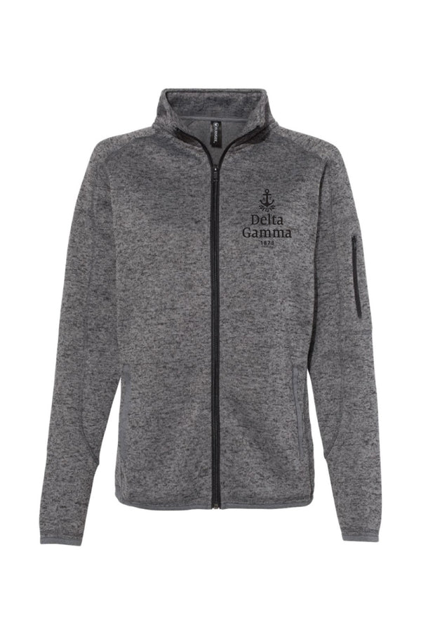 New Brand Logo Zip-Up Jacket - Hannah's Closet - The Official Boutique for Delta Gamma
