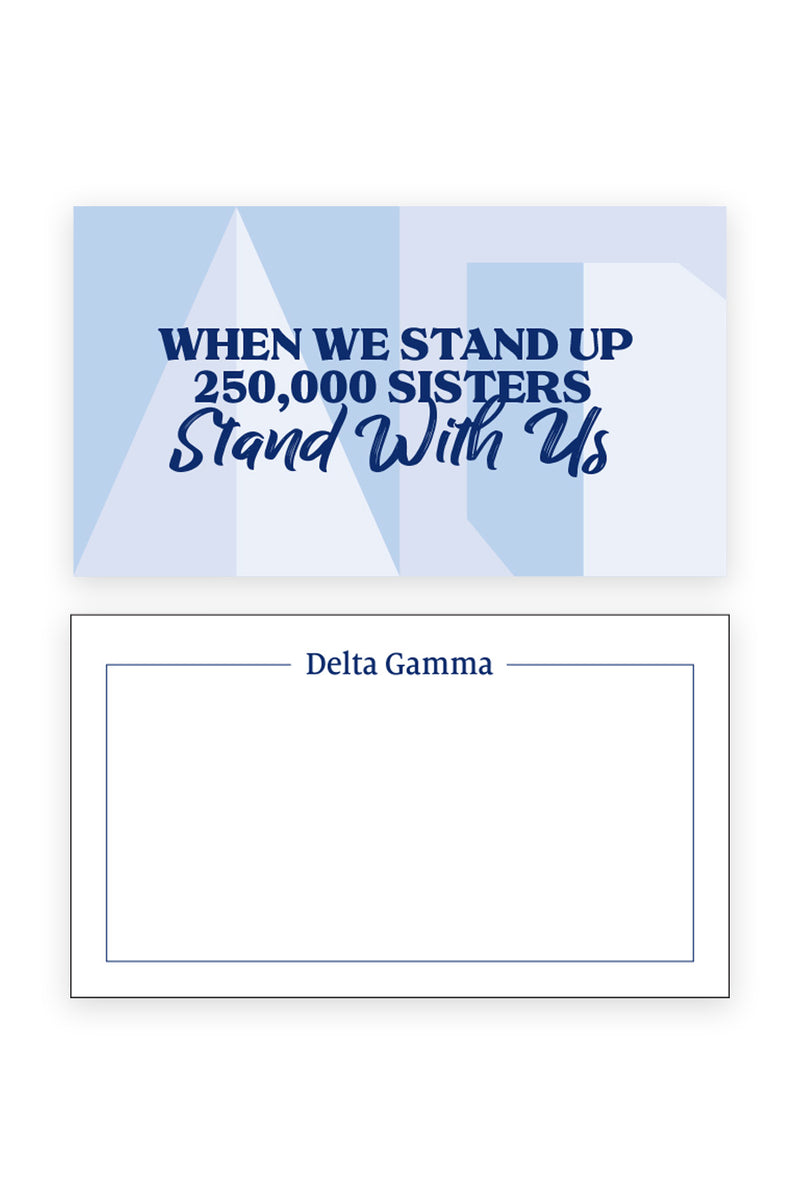 Stand With Us Notecards - Hannah's Closet - The Official Boutique for Delta Gamma