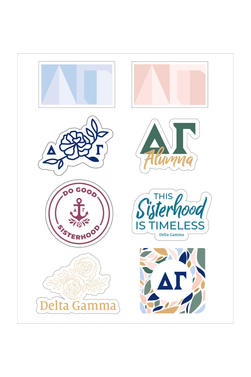 Delta Gamma Sticker Sheet