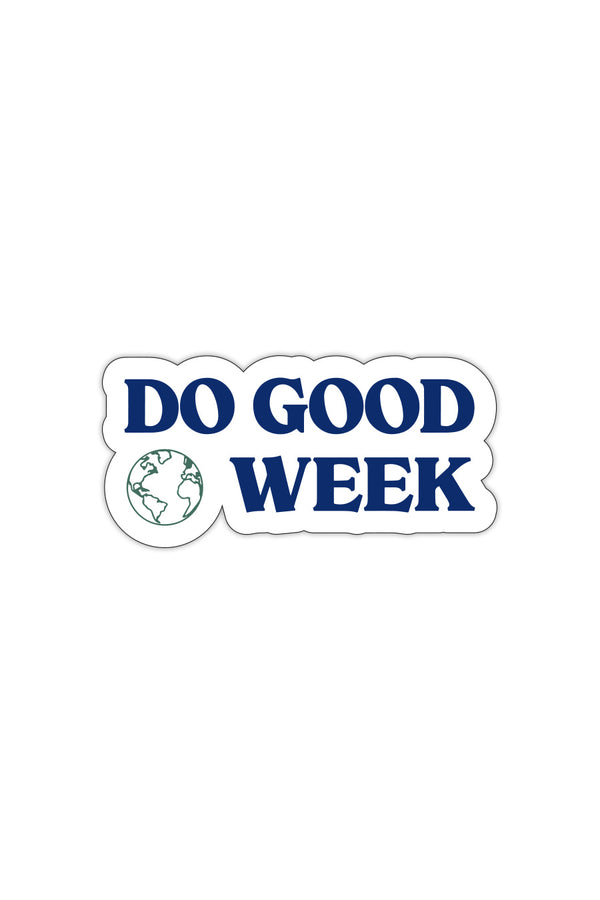 Do Good Week Decal