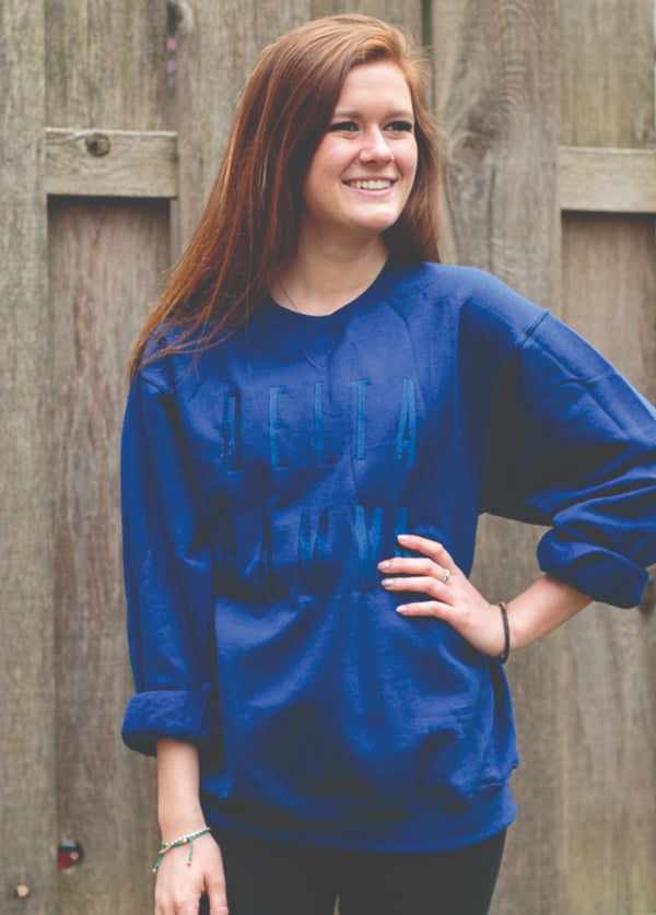 Admiral Tone on Tone Sweatshirt - Hannah's Closet - The Official Boutique for Delta Gamma