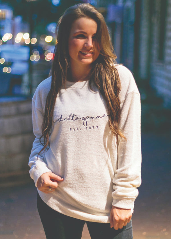 Cozy Crew Sweatshirt - Hannah's Closet - The Official Boutique for Delta Gamma