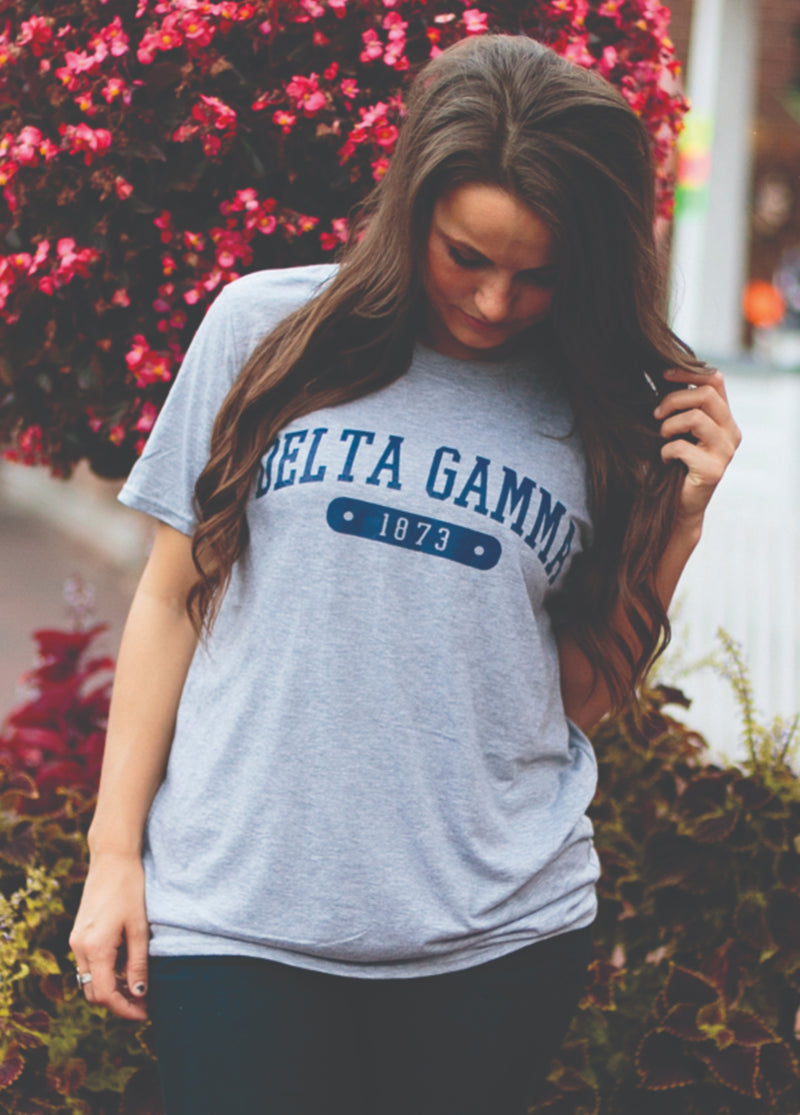 Grey Triblend Short Sleeve - Hannah's Closet - The Official Boutique for Delta Gamma