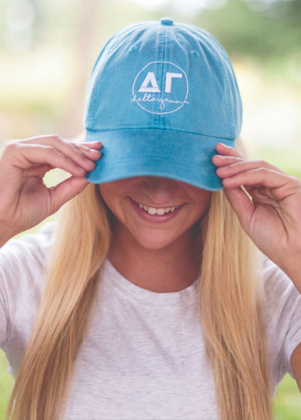 Circle Script Hat - Hannah's Closet - The Official Boutique for Delta Gamma