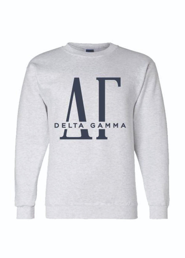Tall Letter Sweatshirt - Hannah's Closet - The Official Boutique for Delta Gamma