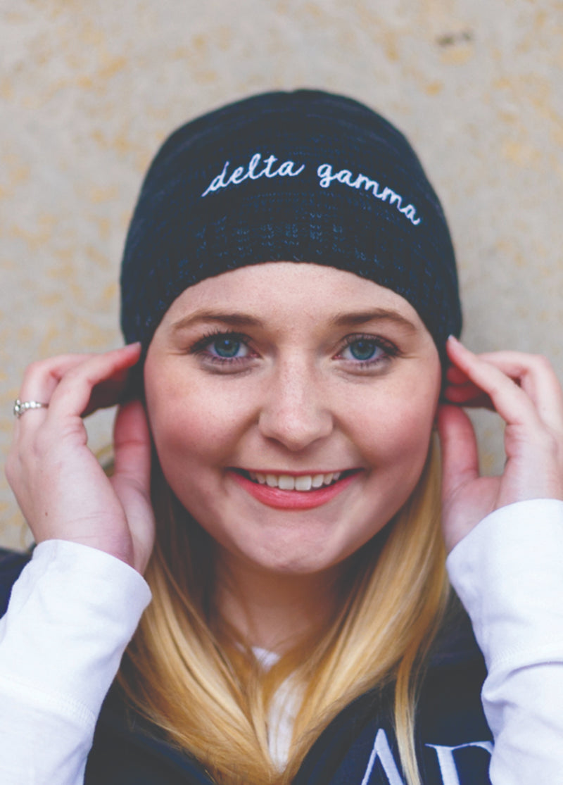 Marbled Beanie - Hannah's Closet - The Official Boutique for Delta Gamma